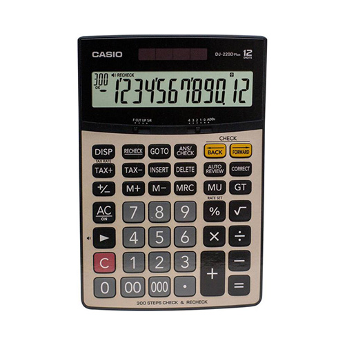 ماشین حساب کاسیو DJ-220D PlusCasio DJ-220D Plus Calculator